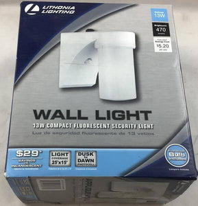 White Fluorescent Outdoor Wall-Mount Cylinder Light Damaged Box-outdoor lighting-Tool Mart Inc.