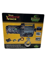 Wood Power 2000 LB Mossy Oak Camouflage Winch-winches & jacks-Tool Mart Inc.