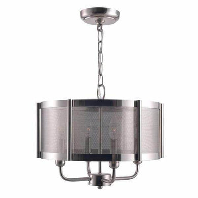 World Imports WI-8949-37 Xena Collection 4-Light Brushed Nickel Indoor Chandelier Damaged Box-Lighting-Tool Mart Inc.