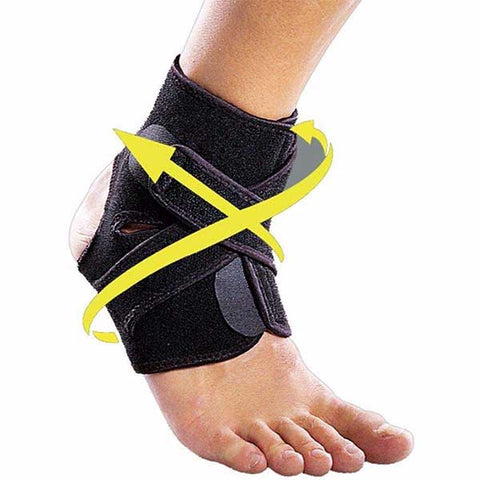 Ankle Support Brace with Adjustable Stabilizer Straps