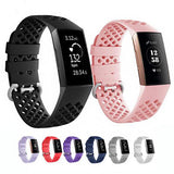 Breathable Silicone Fitbit Charge 3 Strap