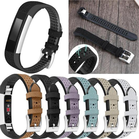 Color Leather Fitbit Alta Strap