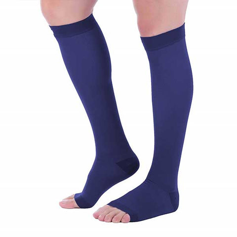 Open Toe Compression Socks - 20-30 mmHg ~ Reduce Swelling & Relieve Pain!