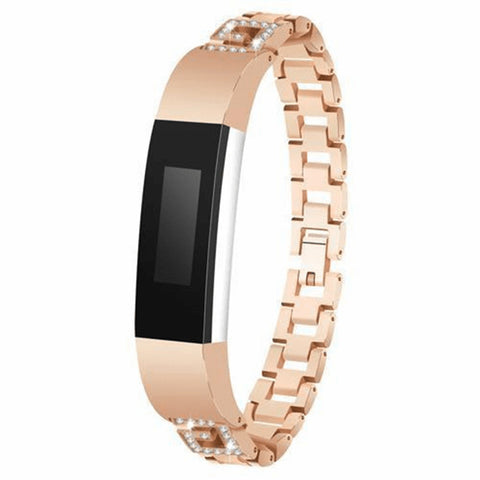 Diamond Stainless Steel Fitbit Alta/Alta HR Strap