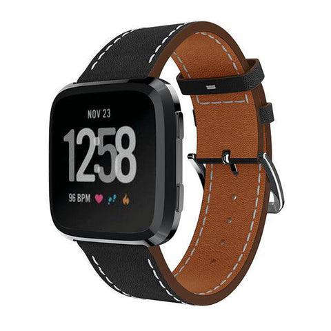 Genuine Leather Fitbit Versa Strap