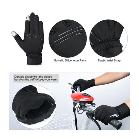 Vbiger Cycling Gloves Mittens with Touch Screen and Anti-Skid