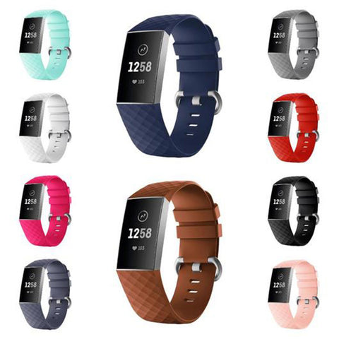 Silicone Sports Fitbit Charge 3 Strap