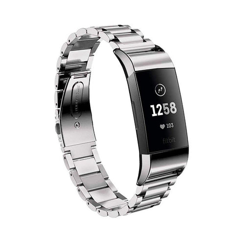 Stainless Steel Link Bracelet Fitbit Charge 3 Strap