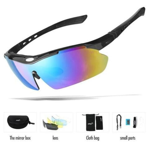5 Lens Polarized Outdoor Sunglasses