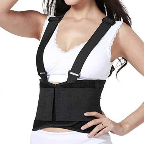 Women's Back Brace with Suspenders - Lumbar Support