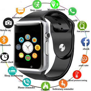 Smart Watch com Bluetooth Suporta Ios e Android - AposhopBr