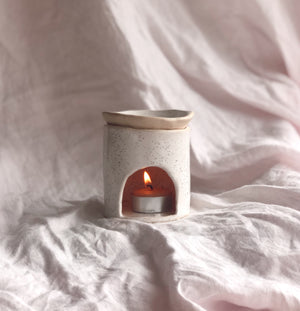Ceramic Oil Burner - Cream