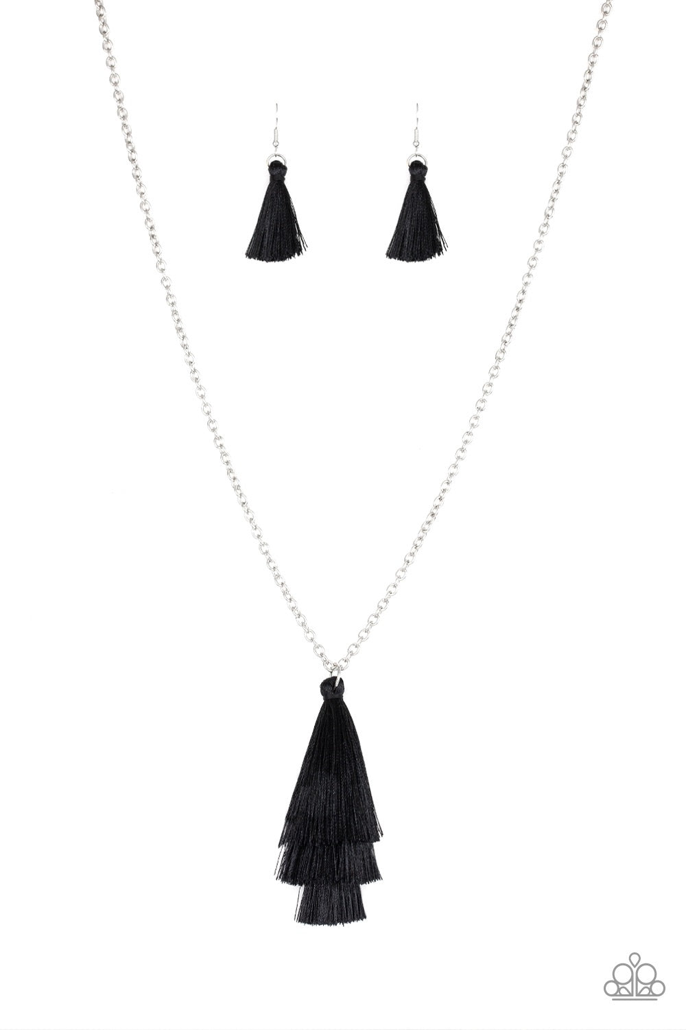 Triple the Tassel Black
