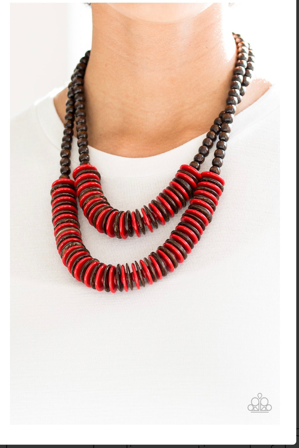 Dominican Disco Red Necklace