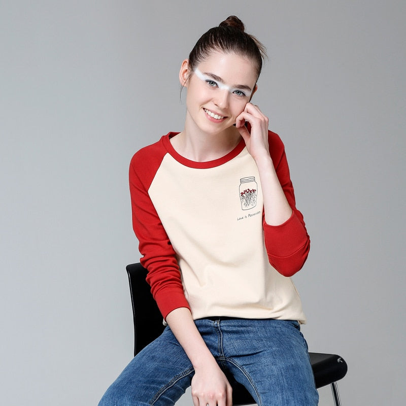 "Raglan Sleeve Top with ""Love is Possession"" Casual Top - Moonbeam Distribution"