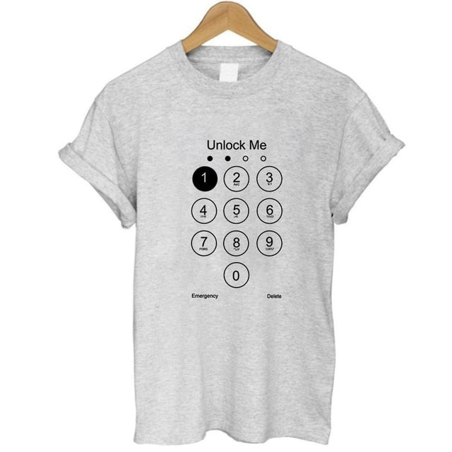Unlock Me Mobile Phone Pin T Shirt - Moonbeam Distribution