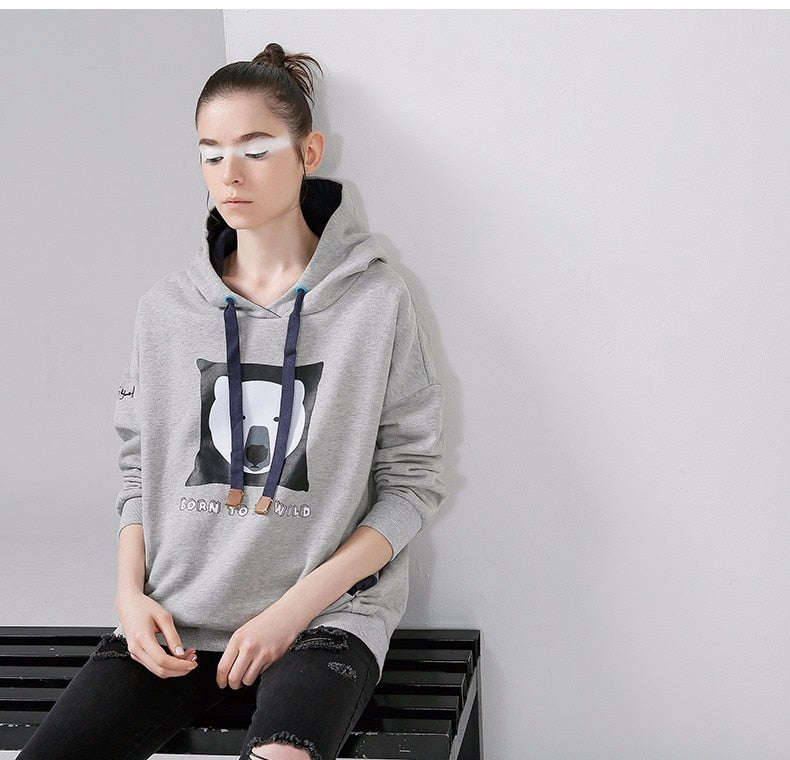 Bear Hoodie Cute Androgynous Pullover - Moonbeam Distribution