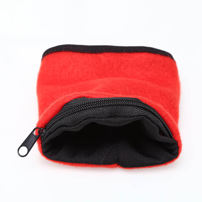 Wrist Wallet Pouch Fleece Zipper