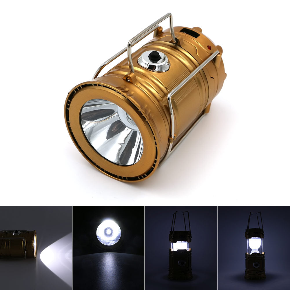 Solar Powered Collapsible Flashlights