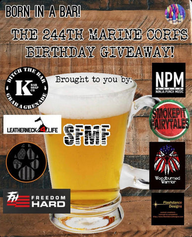 Giveaway for Veteran's Day 2019 win prizes from marine veteran owned businesses
