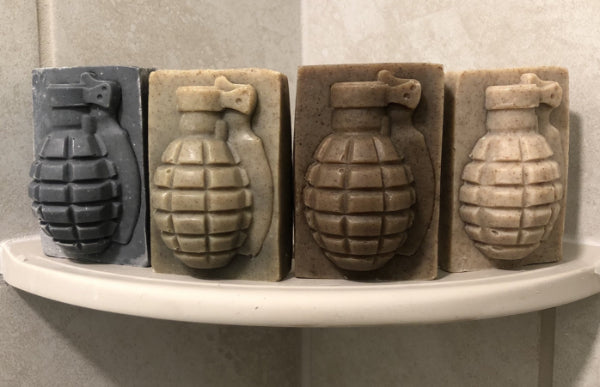 4 pack of grenade soap in shower