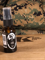 Cash Sales Beard Oil with Camo in background