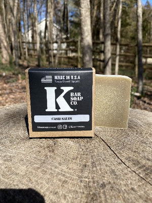 K Bar Cash Sales Soap Bar in black packaging with logo