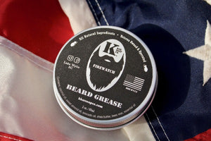 Firewatch Beard Grease tin on American flag