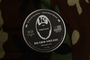 Firewatch Beard Grease tin on Camo