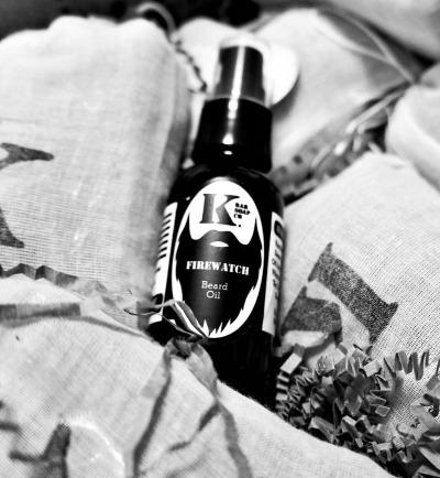 Firewatch Beard Oil in greytones