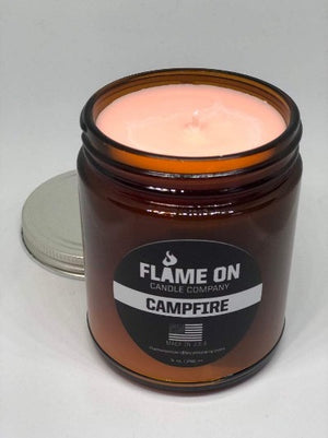 Flame On Campfire Candle open
