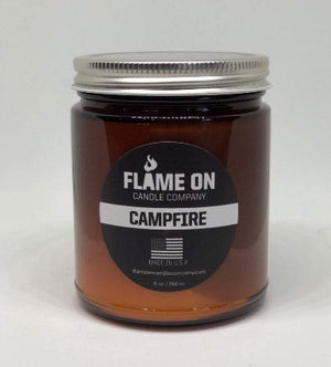 Flame On Campfire Candle