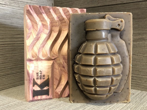Grenade Soap and Cedar Flag Soap Dish