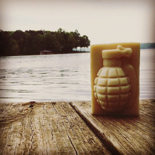 Ricky Recon Grenade Soap by a lake