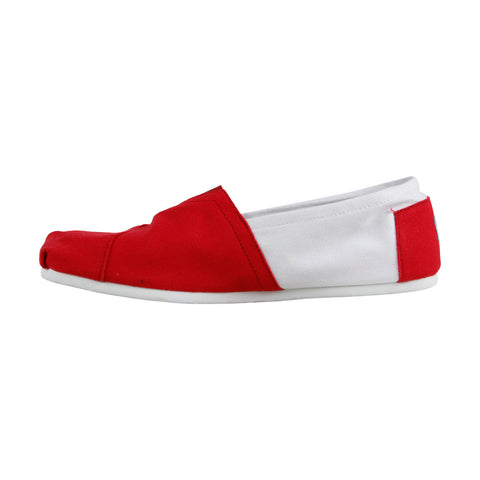 Toms Classics University Of Wisconsin Mens Red Textile Sneakers Shoes