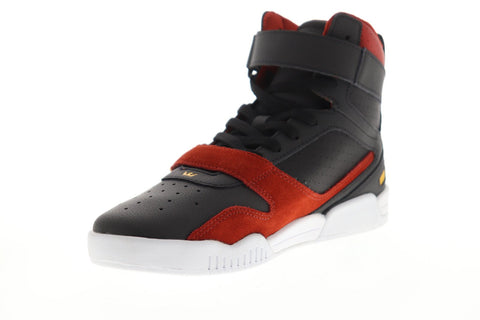 Supra Breaker 05893-011-M Mens Black Leather Lace Up High Top Sneakers Shoes