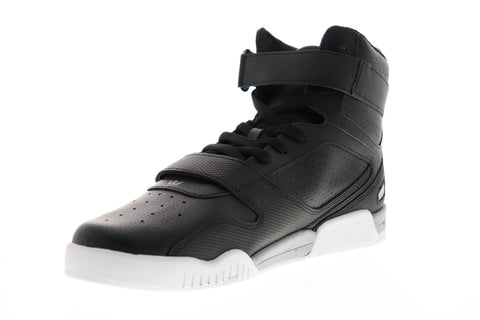 Supra Breaker 05893-071-M Mens Black Leather High Top Skate Sneakers Shoes