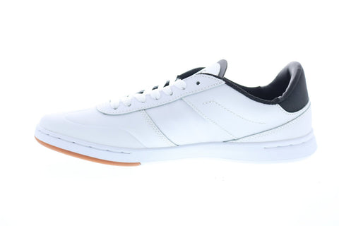 Supra Elevate 05894-126-M Mens White Leather Lace Up Athletic Skate Shoes