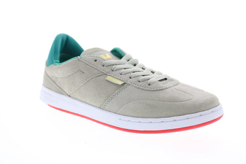 Supra Elevate 05894-255-M Mens Grey Suede Lace Up Athletic Skate Shoes