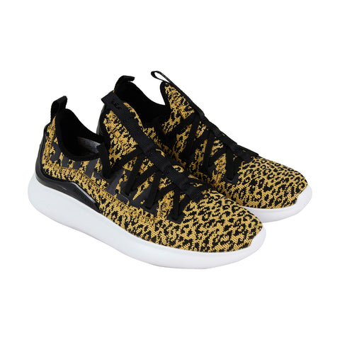 Supra Factor Mens Yellow Textile Low Top Lace Up Sneakers Shoes