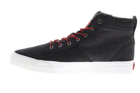 Supra Stacks Mid 05903-005-M Mens Black Suede Lace Up Low Top Sneakers Shoes