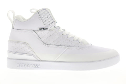 Supra Penny Pro 06567-101-M Mens White Suede Lace Up Low Top Sneakers Shoes