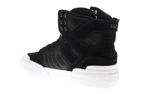 Supra Skytop 77 06578-002-M Mens Black Suede Lace Up Athletic Skate Shoes