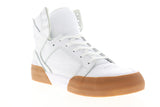 Supra Skytop 77 06578-151-M Mens White Suede Lace Up High Top Sneakers Shoes