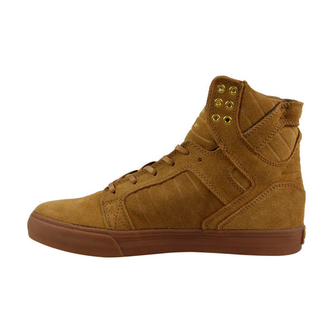 supra skytop 08003213m mens tan brown suede casual high