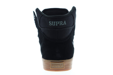 Supra Vaider 08044-095-M Mens Black Suede Lace Up High Top Sneakers Shoes