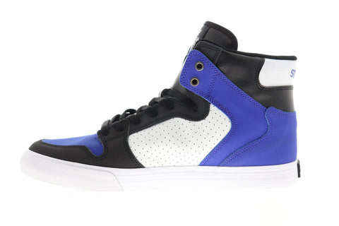 Supra Vaider 08044-475-M Mens Blue Synthetic Lace Up High Top Sneakers Shoes