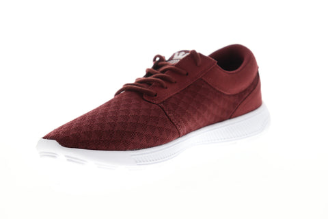 Supra Hammer Run 08128-211-M Mens Red Mesh Low Top Lace Up Skate Sneakers Shoes
