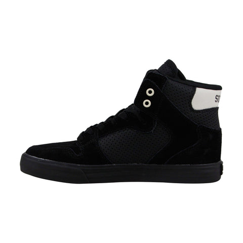 Supra Vaider Mens Black Suede High Top Lace Up Sneakers Shoes