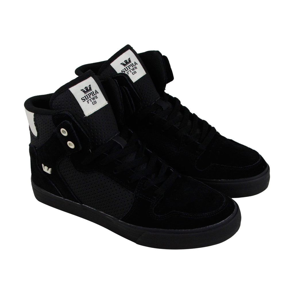fb51ed9d47 Supra Vaider Mens Black Suede High Top Lace Up Sneakers Shoes - Ruze ...